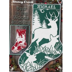 Deer in the Woods Stocking - Stoney Creek Collection