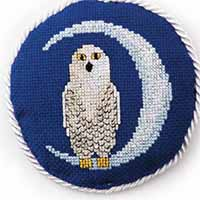 Moonlight Owl Just Cross Stitch Ornament Edition