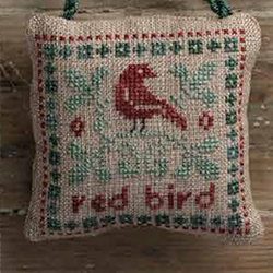 August - Red Bird - Elizabeths Designs