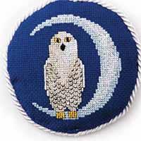 Moonlight Owl Just Cross Stitch Ornament Edition