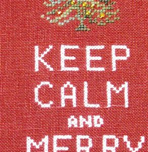 Keep Calm and Merry On Hot House Petunia